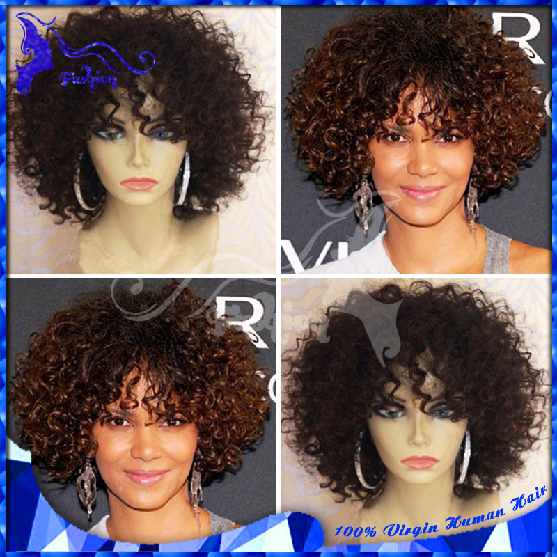 Short Kinky Curly Lace Front Wigs Peruvian Curly Virgin Full Lace Front Human Hair Wigs Glueless Full Lace Wigs For Black Wonmen<br><br>Aliexpress