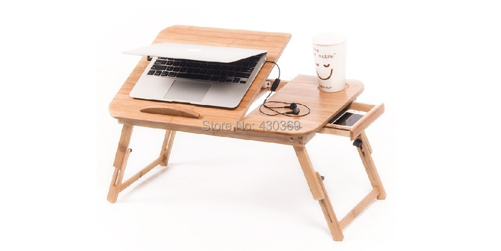 Lap Without Cooler Pad Smaller Size Folding Wood Laptop Table Sofa Bed Office Stand Table Computer Desk Without Cooler Pad(China (Mainland))