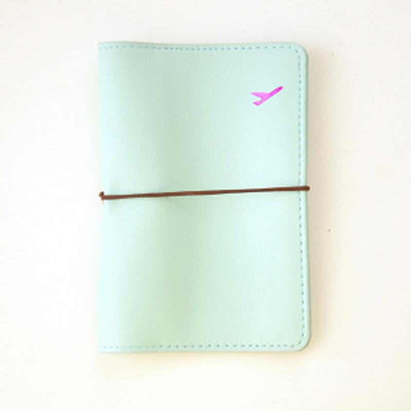 passport holder passport cover solid passport wallet leather travel wallet id card holder pochette passeport lovely(China (Mainland))