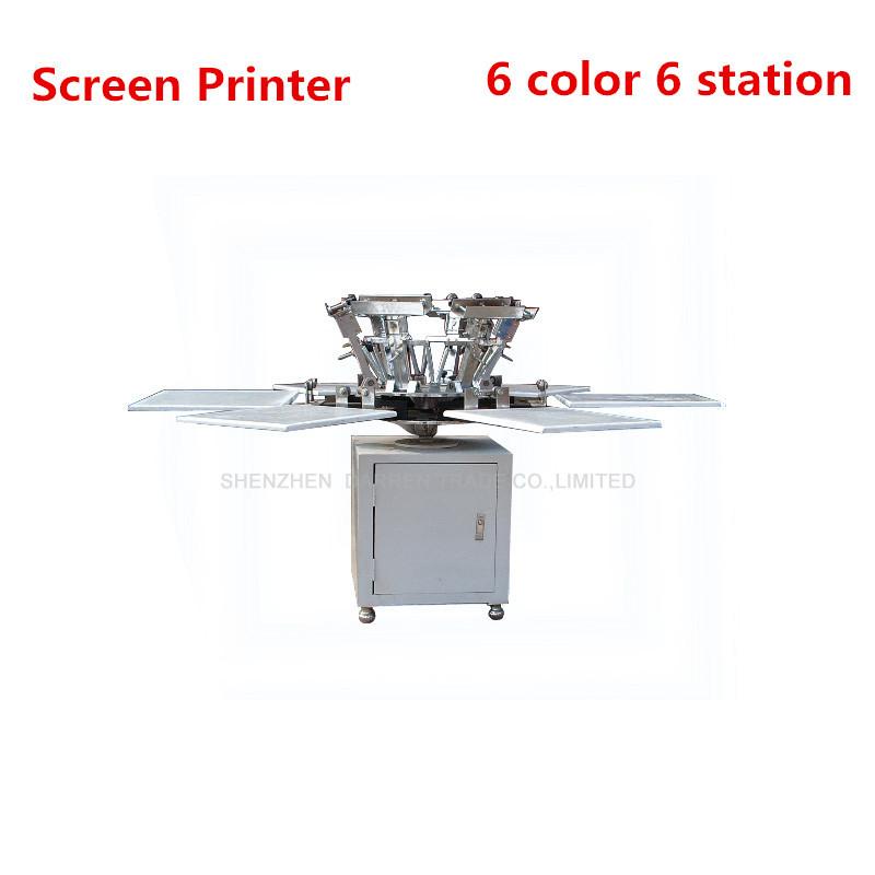 1Set 6 color 6 station T-shirt screen printing machine comeswith base good quality(China (Mainland))