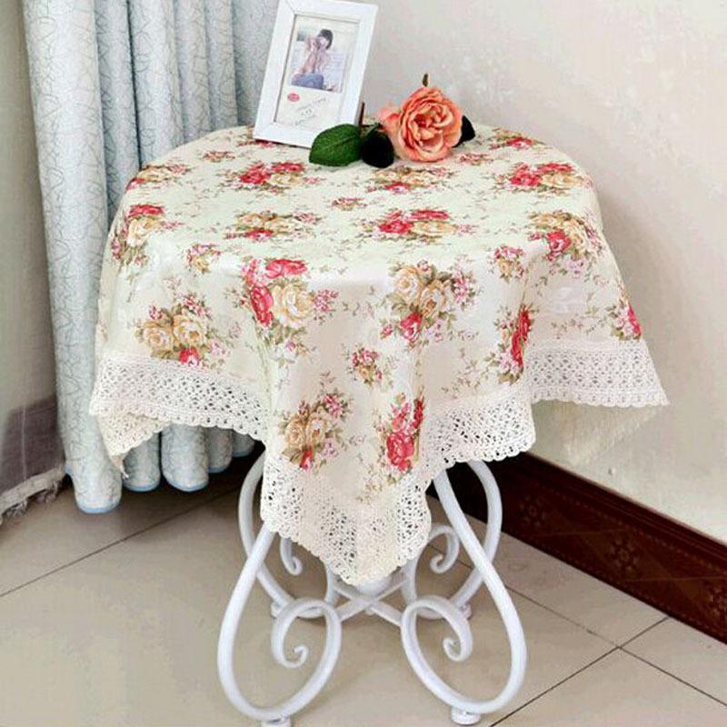 Tuch Floralen Stoff Spitze Häkeln Tischdecke Satin Tisch