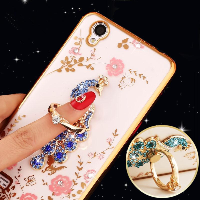 Luxury Flora Diamond Flower Pattern Bling Soft TPU Cell Phone Back Cover For BBK Vivo X6 Plus X7 X7plus Xplay5 Y31 Y35 V3Cases(China (Mainland))