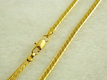 Wholesale Super deal New arrival fashion Jewelry vacuum plating 24K gold necklace 46cmx2.5mm Super price !Free Shipping ZKN115