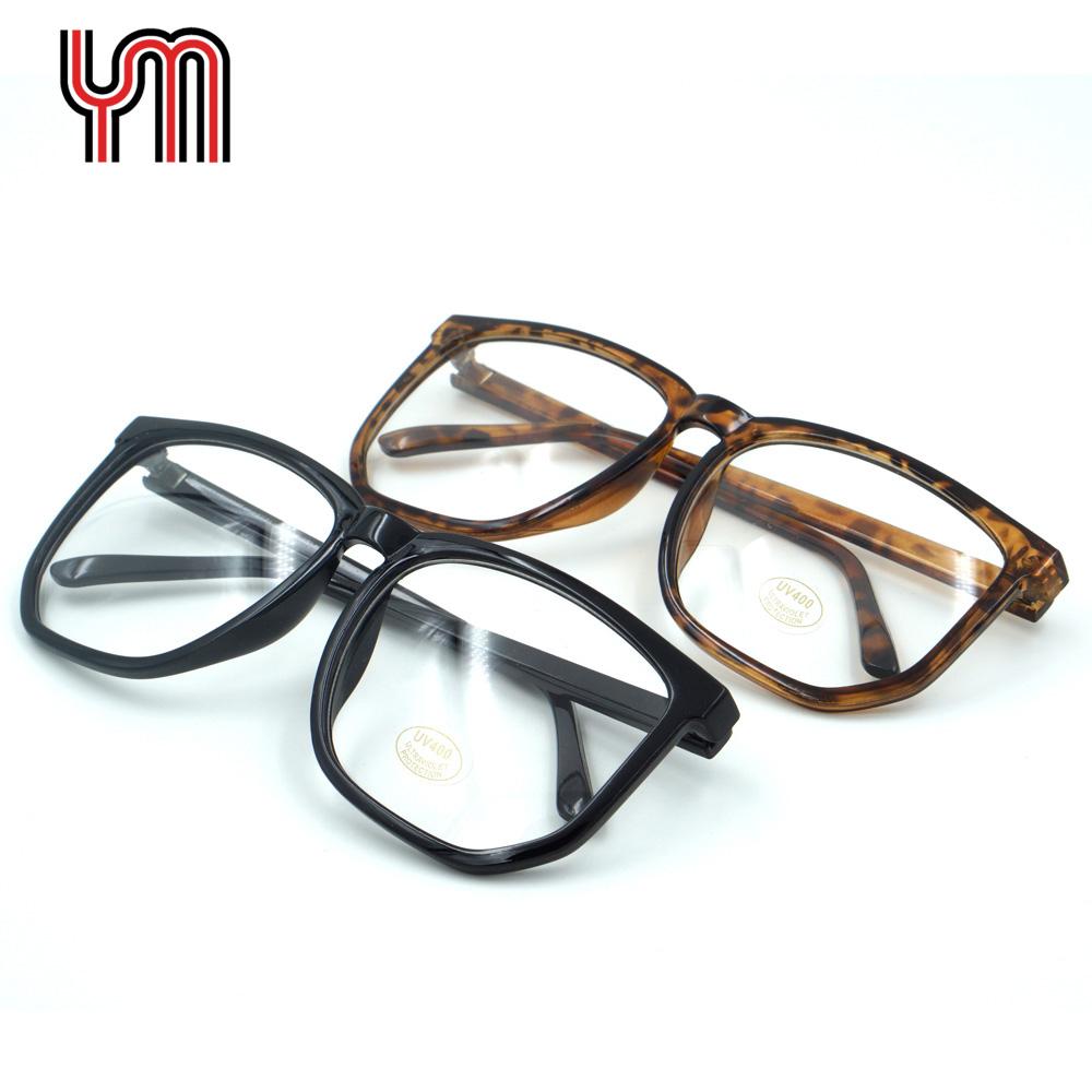Clear Lens Glasses Large Slim Vintage Nerd Fashion Big Square Black Leopard Frame Hippy Stylish Retro Party 60s70s New 030-122-5