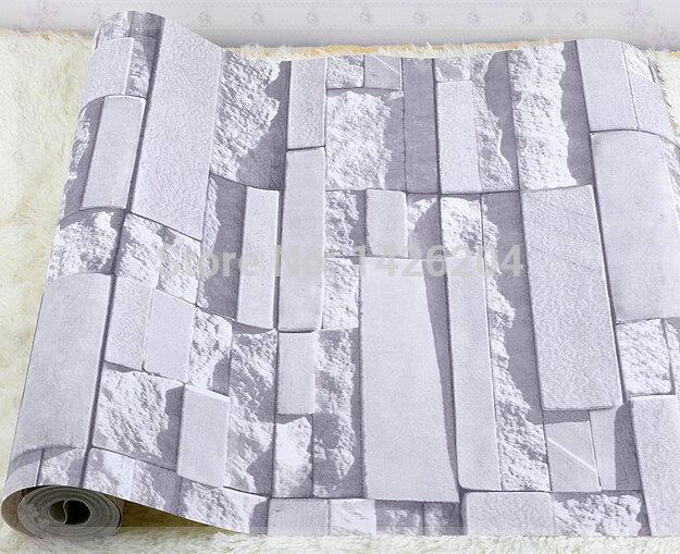 Steintapete Grau Wohnzimmer