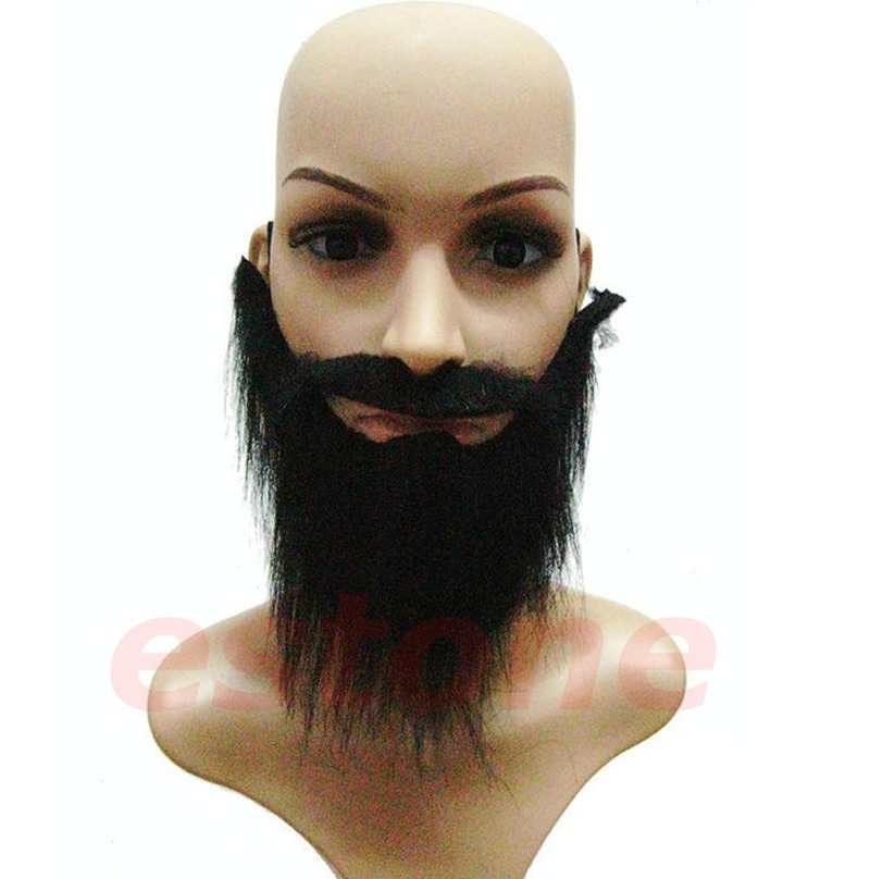 E74 3Pcs/Lot Funny Costume Fancy Party Halloween Fake Beard Moustache Mustache Facial Hair HQ(China (Mainland))