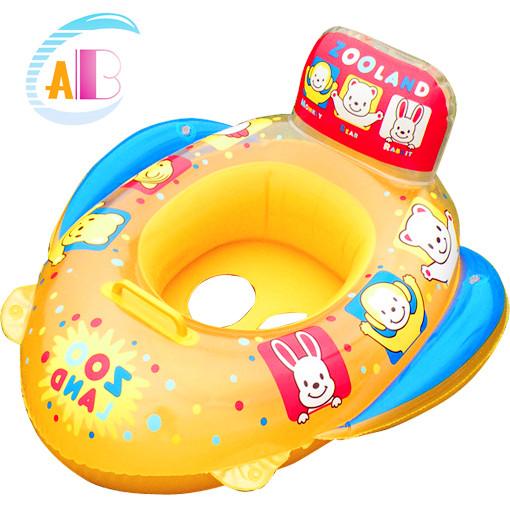 Free shipping Abc2013 animal handle boat infant swim ring child boat wooden seat 1567(China (Mainland))