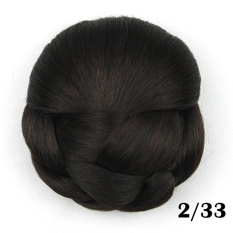Black Hair Bun Pieces Extension Bun Hair Pieces