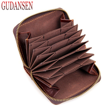 Buy Genuine Leather Card Holder Business Women Credit Card Case Bank/ID Card Bag Luxury Wallet Pillow Organizer Purse for $11.52 in AliExpress store