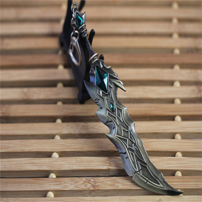 Hot online games around League LOL arms keychain wholesale alloy model weapons(China (Mainland))