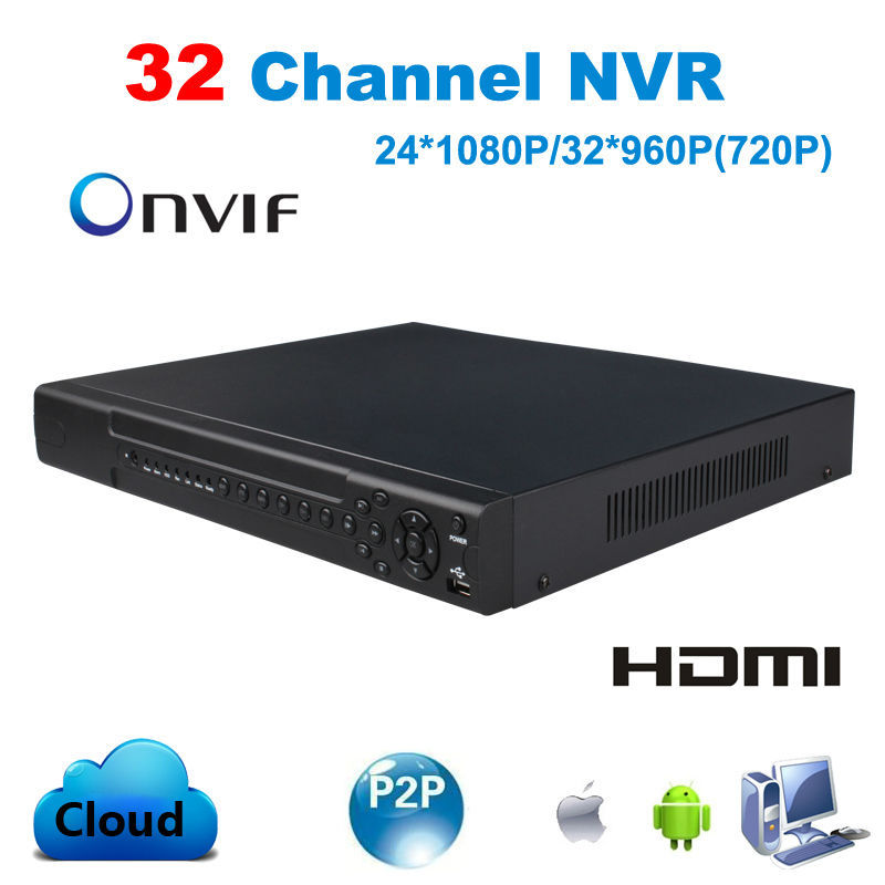 CCTV 32CH NVR 24CH 1080P 32CH 960P 720P Onvif H.264 HDMI High Definition Full HD 32 channel Network Video Recorder support 2HDD<br><br>Aliexpress