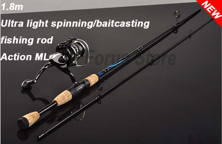 Promotion Ultralight spinning casting fishing rod  1.8m,ML fiberglass light spinning rod for carp fishing black color<br><br>Aliexpress