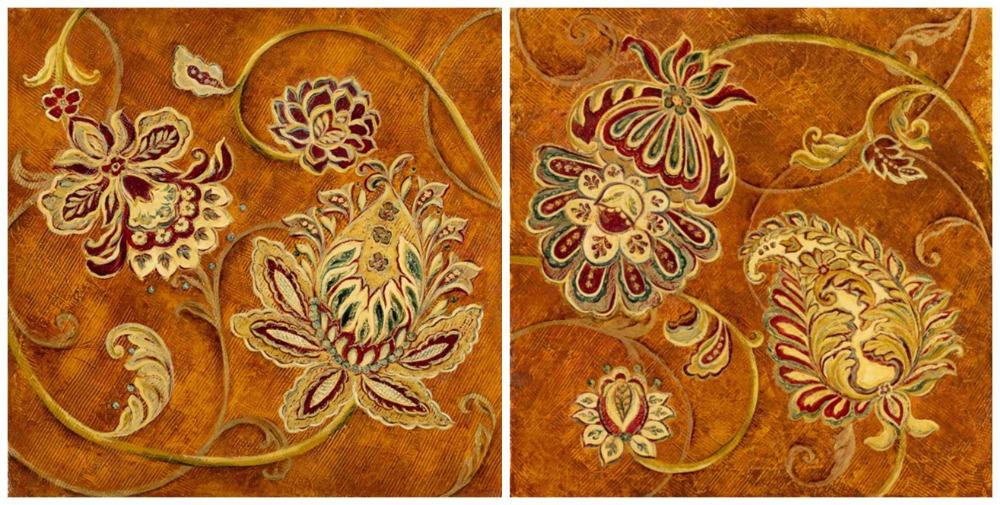 Achetez en gros mod les peinture sur toile en ligne des for Floral pattern wall to wall carpet