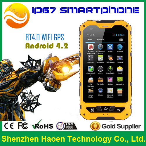 Excellent Quality ALPS A8 IP67 4.0'' Quad Core Android 4.2 3G CDMA Dual Sim 512MB Ram Splash proof Rugged Cell Phone for Hiking(China (Mainland))