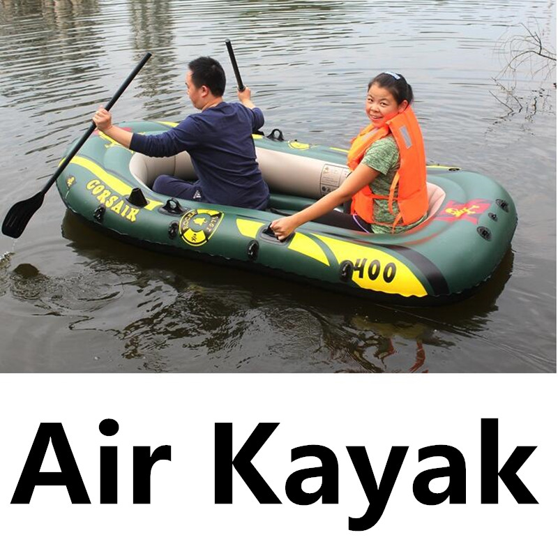 4 Persons 400KG Bearing Inflatable Kayak Special Thick Rubber Boat Air Fishing Kayak Rowing Boat With Air Cushion(China (Mainland))