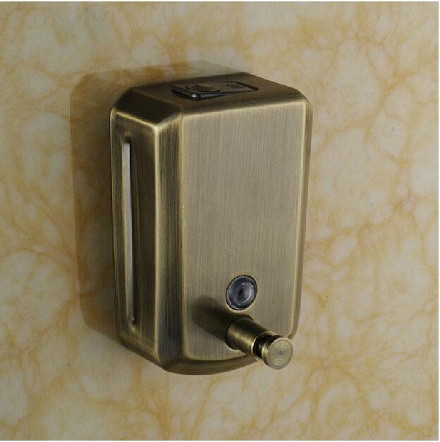 Antique Bronze Wall Mounted Liquid Soap Dispenser Bathroom Shampoo Box(China (Mainland))