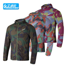 Camouflage Brand Outdoor Sports Men Running Cycling Jacket Bike Bicycle Clothing Windproof Waterproof Jersey riding skin coat