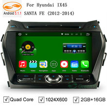 "HD 8"" Screen 1024*600 Pixels Auto Android 5.1.1 Car PC for Hyundai IX45 Santa Fe 2013 2014 Quad Core CPU DVD GPS DVR 3G WiFi(China (Mainland))"