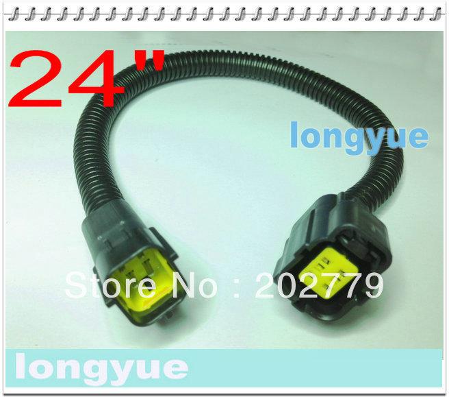 longyue 2universal Infiniti G35 07-08 Rear Post Cat Oxygen O2 Sensor Extension Harnesses 60cm wire