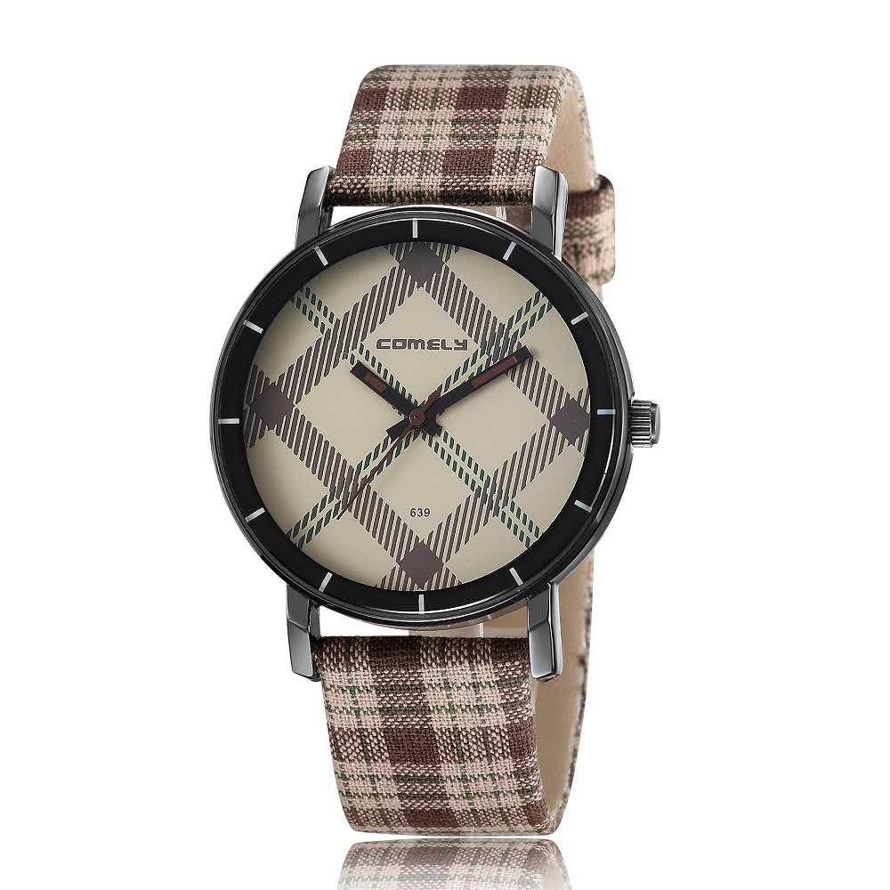 Fashion Women Stripe Hour Marks Women Leather Strap Quartz Ladies WristWatches.Casual Watches Female Clock Relogio Feminino<br><br>Aliexpress