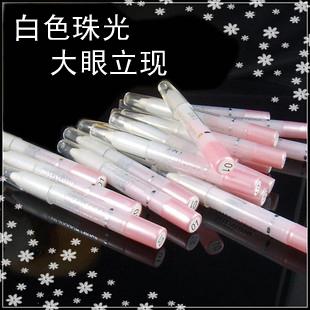 24 cosméticos maquiagem bling olhos grandes perolado branco caneta caneta sombra de olho