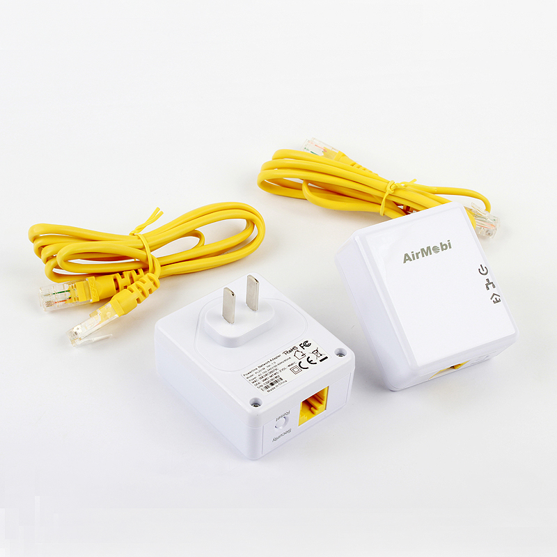 AirMobi 500mbps homeplug powerline Ethernet a pair adapter network powerline EU or US plug for AV