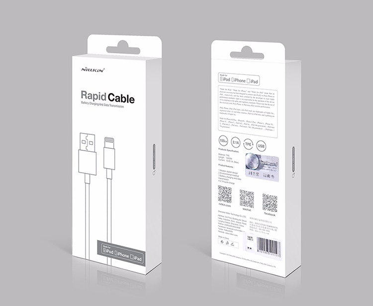 NILLKIN Rapid MFI certification Cable for Lightning to USB ...