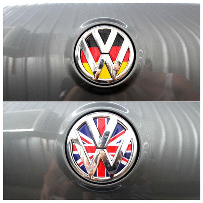Volkswagen Golf car German Flag stickers Epoxy standard rear 6 polo Lavida Magotan CC Tiguan 3d car wheel accessories(China (Mainland))