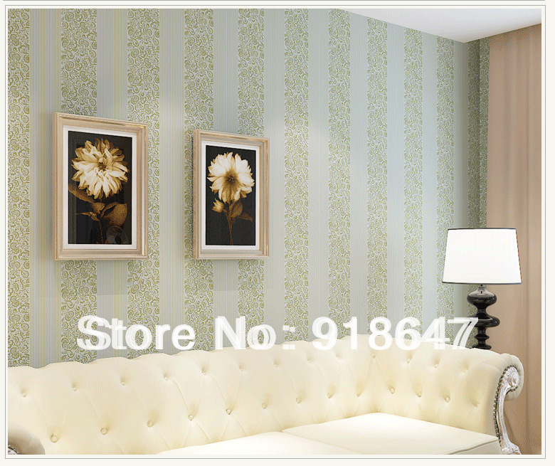 High Quality Plain Stripe Flower Wood Fabric Modern Feature Vertical Classic Wall Paper Rolls/Wallpaper Bedroom, Living Room(China (Mainland))