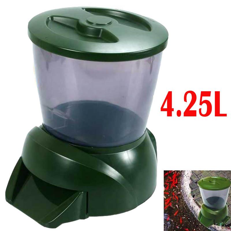 Compra alimentador autom tico de peces de estanque online for Estanque de plastico precio