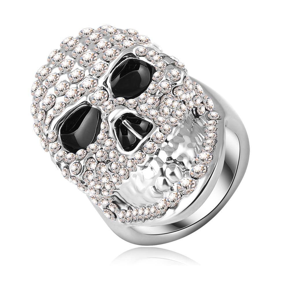new vintage unique design cool skull shaped ring real