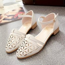 2015 summer styles women's sandals in baotou head pierced with a Word-type buckle shoes women shoes wholesale