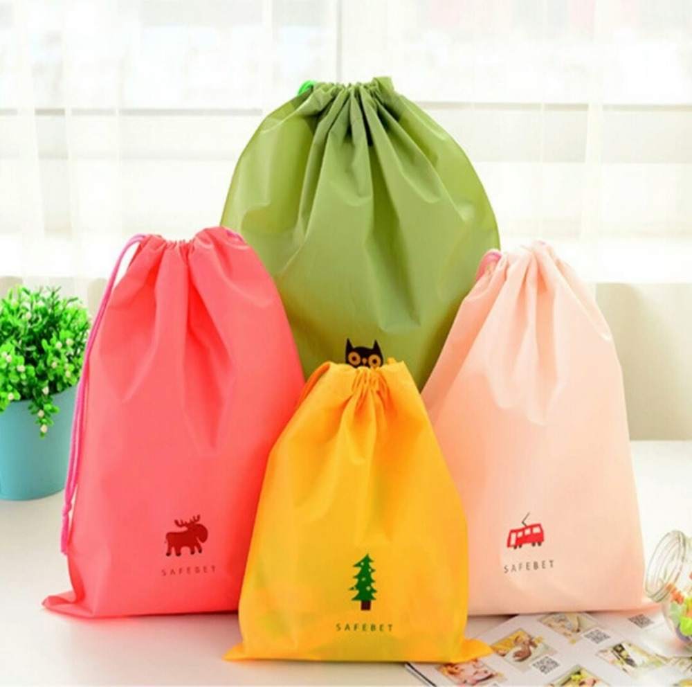 5Pcs Cartoon Simple waterproof Laundry Bag PouchDouble PE Storage Bag for Toys Clothes and shoes Storage bag(China (Mainland))