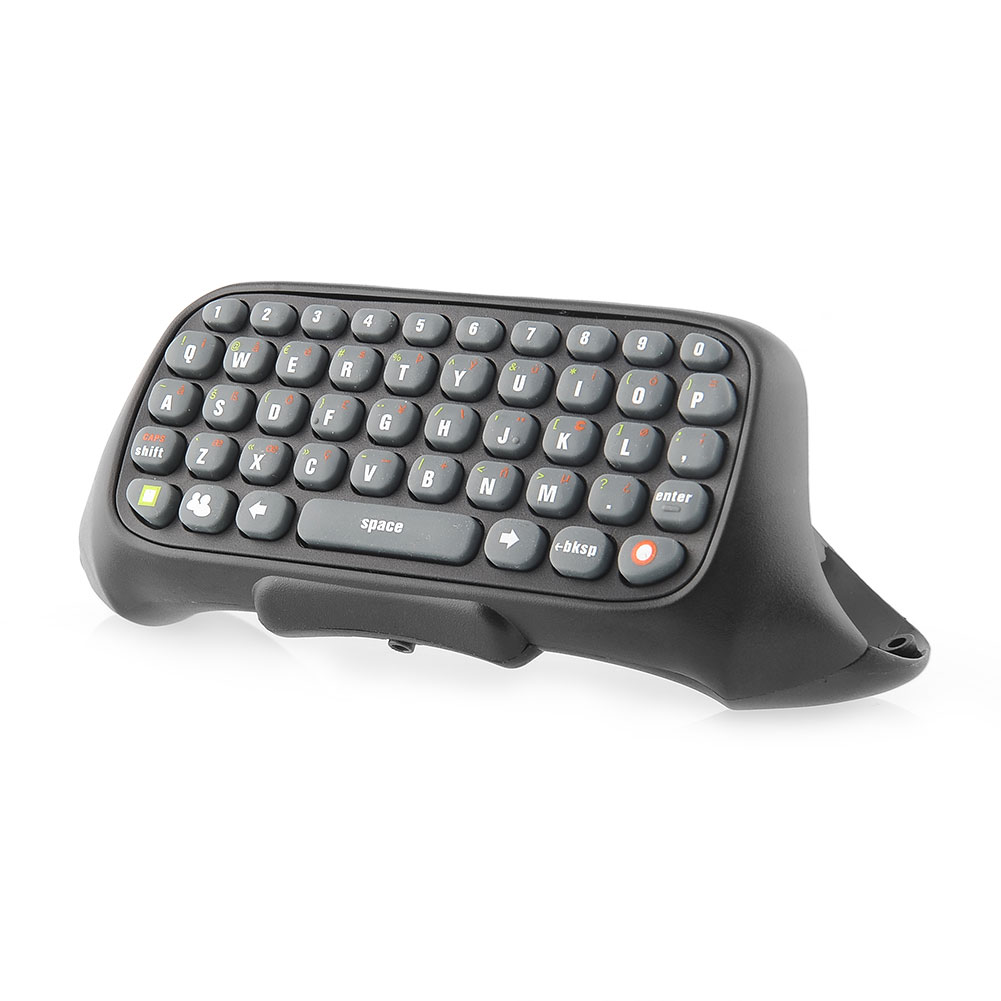 Black Wireless Messenger Chatpad Keyboard Keypad Text Pad for Xbox 360 Xbox360 Controller happy time(China (Mainland))