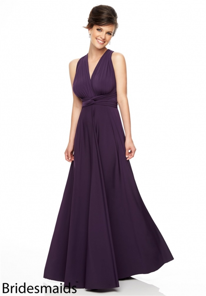 Aliexpress Buy High Fashion Sexy Backless Bridesmaid Dresses Purple 2015 Halter Neck Party