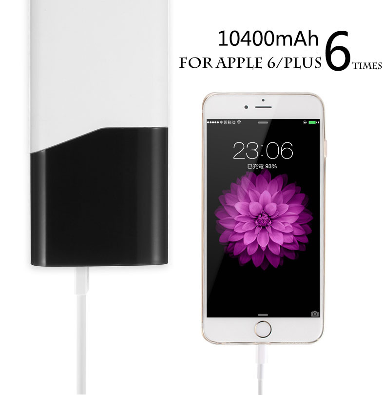 Portable Power Bank LED Power Display 10400mAh Daul USB External Mobile Backup Powerbank Battery for iPhone LG Samsung Charger(China (Mainland))