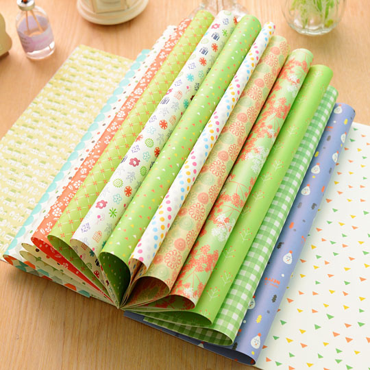 Wrapping paper Colorful packaging gift wrapping Lovely - Fashion Flying Art Craft store