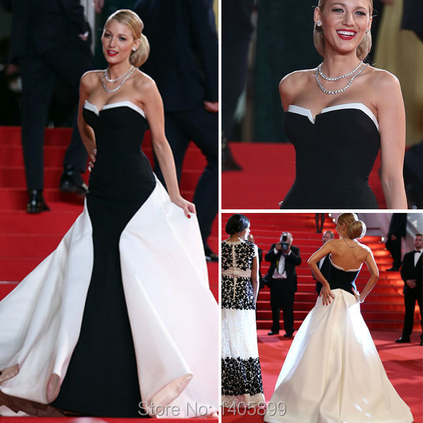 pics for gt black and white dress red carpet
