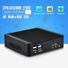 Celeron j1900 Mini PC Core Dual  Lan Port  Win7 / Linux / Win8  Windows Desktop Thin client  Macro Computer Mini PCs(China (Mainland))