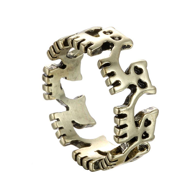 cat ring 2016 new fashion bronze ring hollow animal