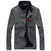 The new men's casual jackets Fashion stand-collar jacket embroidered standard Men's Knit Jacket Slim tide(China (Mainland))
