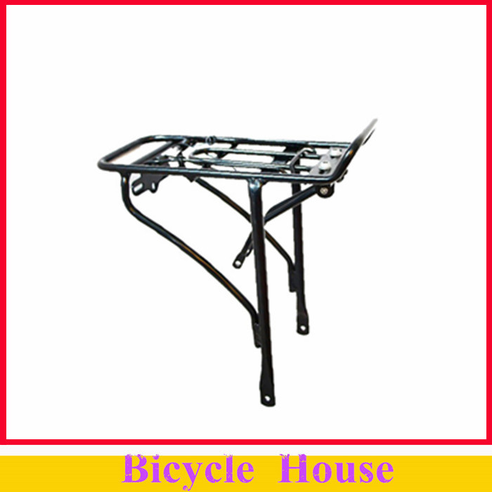 20 inch 25kg Capacity Cycling Bicycle Bike Aluminum Alloy Single layer Black Luggage Carrier - electric bike house store