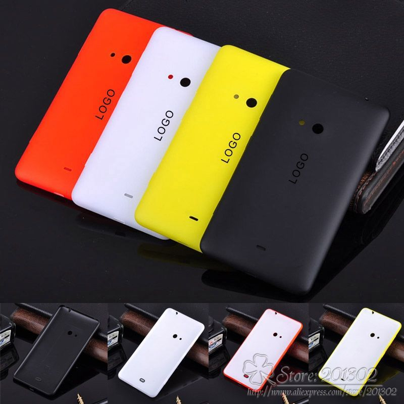 1Pcs 100% OEM Quality Back Housing Battery Door Cover Rear Case + Side Buttons Replacement Phone Cases For Nokia Lumia 625 Case(Hong Kong)