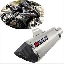 akrapovic yoshimura motorcycle exhaust carbon fiber escape bn600/300 echappement moto akrapovic dirt bike muffler free shipping