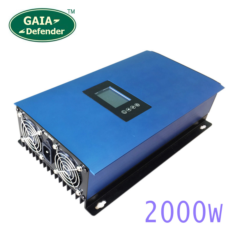 2000W MPPT Solar Power on Grid Tie Inverter with Limiter for single/3 Phase Connection new 2nd generation system(China (Mainland))