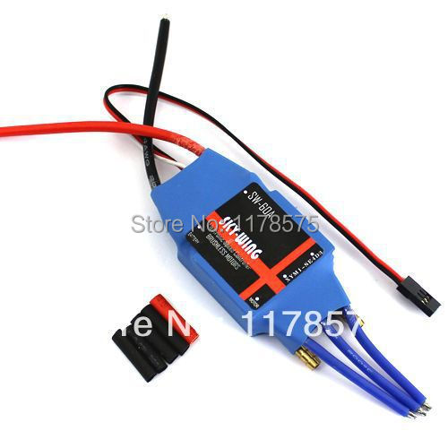 SkyWing Brushless Motor 60A WaterCool ESC with BEC RC Boat Jet Ship 60a Brushless ESC RC02692(China (Mainland))