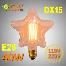 New Vintage Edison ampoule DX15 éclairage 220 V décoratif ampoules à incandescence rétro Edison Filament lampe ampoule Edison bombilla(China (Mainland))