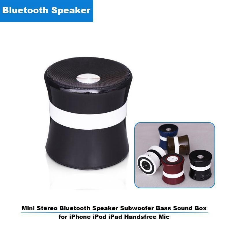 Mini Stereo Speakers Portable Wireless Bluetooth Speaker Hands-free Subwoofer Bass Box Support FM Radio TF Card