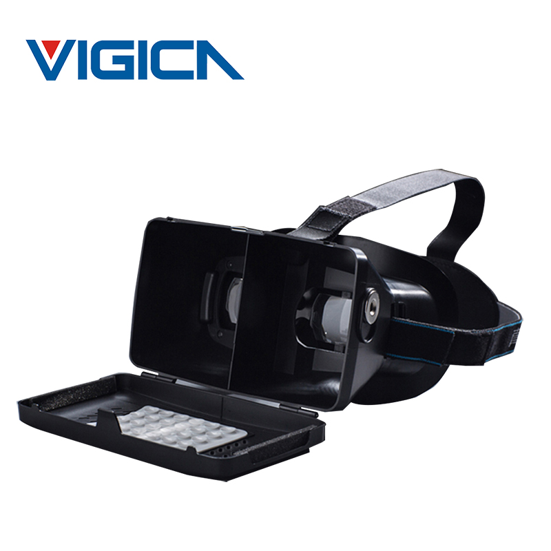 RITECH II Head Mount Plastic Version VR Virtual Reality Glasses magnet Control Google Cardboard for 3D Movies Games 3.5-6 phone(China (Mainland))