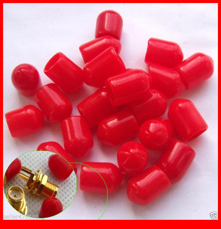 1000 PCS Diameter 6mm Plastic covers Dust cap Red for RF SMA female connector(China (Mainland))
